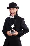 与被隔绝的星奖的商人 免版税库存图片