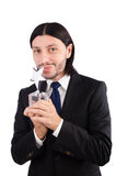 与被隔绝的星奖的商人 免版税库存照片