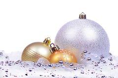 与被隔绝的球的圣诞节背景 免版税库存图片