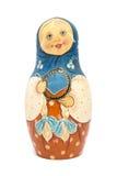 与被隔绝的表面无光泽的油漆的俄国玩偶matrioshka 库存照片
