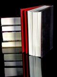 与被暴露的页的几本书 免版税库存照片