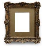 与裁减路线的古色古香的画框 库存照片