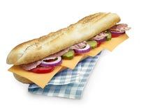 与裁减路线的大三明治 库存图片