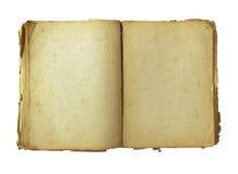 与裁减路线的旧书 免版税库存照片