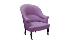 与裁减路线的桃红色古色古香的胳膊椅子 库存照片