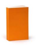 与裁减路线的空白的橙色书套 免版税库存照片