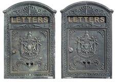 与裁减路线的老邮箱,隔绝在白色 库存图片