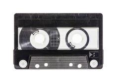 与裁减路线的脏的老空白盒式磁带 免版税库存照片