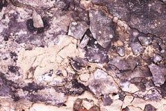 与裂缝的具体灰色纹理 片断地板 库存图片