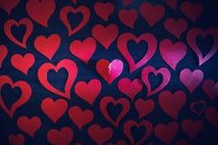 与裂缝的心脏 免版税库存照片