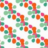 与装饰五颜六色的瓣的无缝的背景 也corel凹道例证向量 免版税库存图片