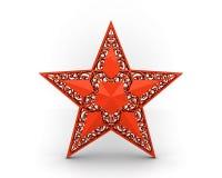 与装饰品的红色星形 图库摄影