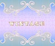 与装饰品的葡萄酒背景由宝石做成 免版税库存照片