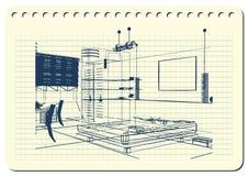 与装饰建筑学10_2的图表例证 免版税库存图片