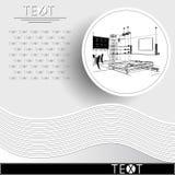 与装饰建筑学10_3的图表例证 图库摄影