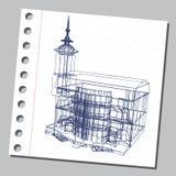 与装饰建筑学18的图表例证 库存照片