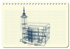 与装饰建筑学18_2的图表例证 免版税库存照片