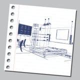 与装饰建筑学10的图表例证 库存照片
