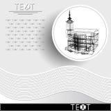 与装饰建筑学18_3的图表例证 库存图片