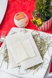 与装饰的圣诞前夕薄酥饼 库存照片