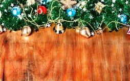 与装饰的圣诞节边界 库存照片