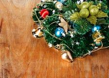 与装饰的圣诞节边界 图库摄影