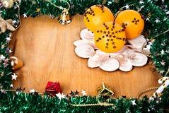 与装饰的圣诞节边界 免版税图库摄影