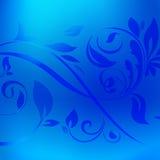 与装饰的蓝色金属箔纹理背景 免版税库存照片