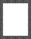 与装饰的部族设计边界的白色框架 图库摄影