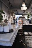 与装饰的Café酒吧 免版税图库摄影