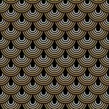 与装饰艺术运动样式的无缝的背景 库存例证