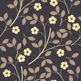 与装饰花和叶子的不尽的样式 免版税库存图片
