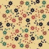 与装饰花和叶子的春天无缝的样式 免版税库存照片