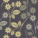与装饰花的无缝的样式 免版税图库摄影