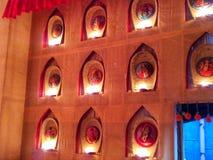 与西孟加拉邦地方雕塑的照明设备  库存照片