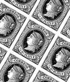 与西班牙邮票的板料 免版税库存照片