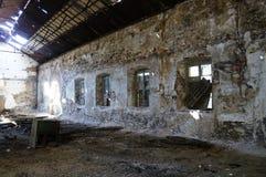与视窗的门面在工厂 免版税库存照片