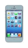 与视网膜显示的IPhone 5 库存照片
