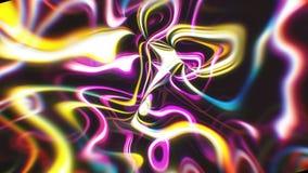 与视觉幻觉和波浪作用, 3d的抽象焕发能量背景回报计算机引起 皇族释放例证