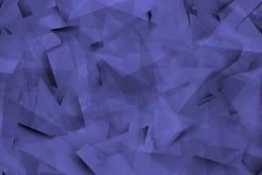 与角度和阴影的蓝蓝背景 库存图片