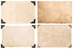 与角落,葡萄酒明信片的使用的纸纸板 免版税库存照片