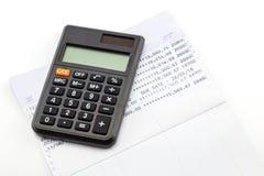 与计算器的财政规划 库存照片
