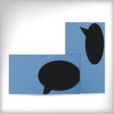 与讲话泡影的简单的名片设计 免版税图库摄影