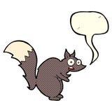 与讲话泡影的滑稽的被震惊的灰鼠动画片 免版税图库摄影