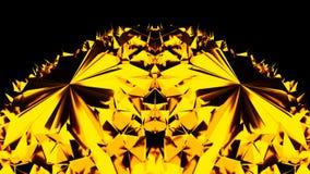 与许多元素的金黄球形形状在空间, 3d回报背景,引起背景的计算机 皇族释放例证