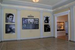 与许多展览的典雅的休息室在舞蹈的历史,舞蹈博物馆,萨拉托加斯普林斯,纽约, 2015年 图库摄影