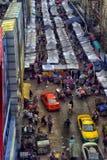 与许多帐篷的街市 免版税库存照片