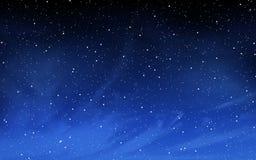 与许多星的深夜天空 库存照片