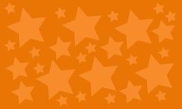 与许多的橙色背景星 免版税库存照片