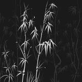 与许多的背景在亚洲样式的竹子。 向量例证